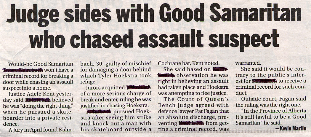 Judge sides with Good Samaritan who chased assault suspect